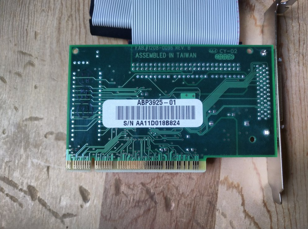 Other side of PCI SCSI card