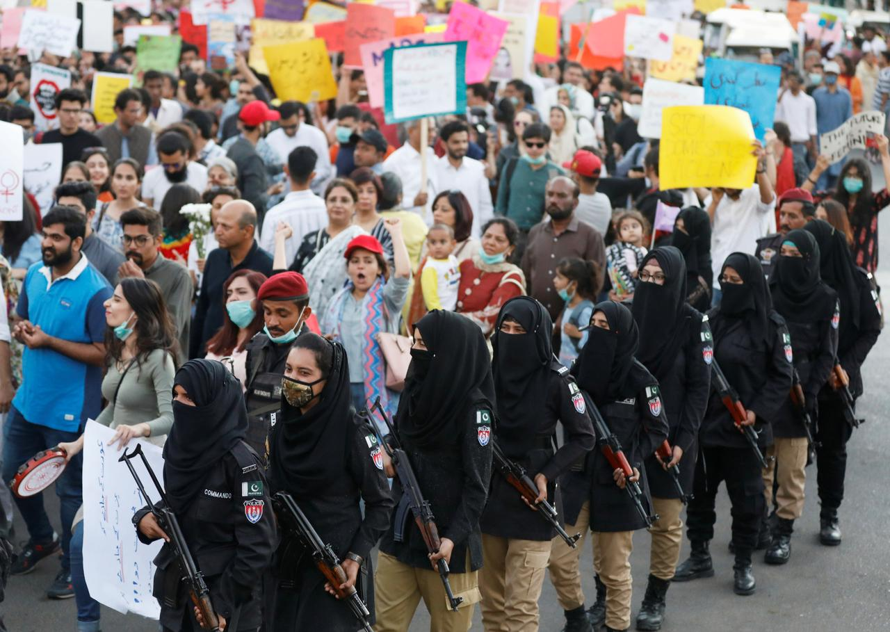 International Women's Day march in Karachi